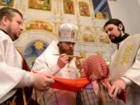 В праздник Крещения Господня епископ Спиридон совершил Литургию в Свято-Троицком соборе