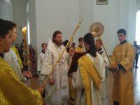 Правящий архиерей совершил всенощное бдение в кафедральном соборе накануне праздника Преображения Господня