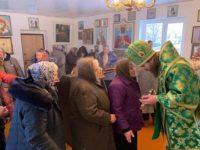 В день празднования памяти преподобного Саввы Освященного епископ Спиридон возглавил Литургию в Петро-Павловском храме села Калинники