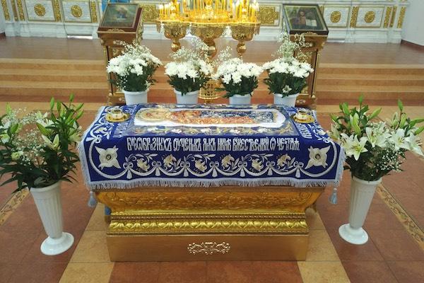 В праздник Успения Пресвятой Богородицы епископ Спиридон возглавил Литургию в кафедральном соборе Бирска