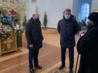 Епископ Спиридон встретился с Главой Республики Башкортостан в Свято-Троицком кафедральном соборе Бирска