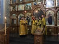 В канун Недели святых отец епископ Спиридон совершил всенощное бдение в Михайло-Архангельском храме Бирска