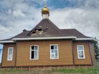 В результате удара молнии в селе Печенкино Бирского благочиния сгорел храм
