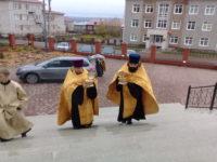 В Свято-Троицком кафедральном соборе встретили ковчеги с мощами святителя Луки Крымского, врача и великомученика, целителя Пантелеимона
