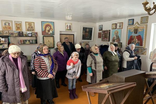 Богослужение в храме села Калинники Бирского района
